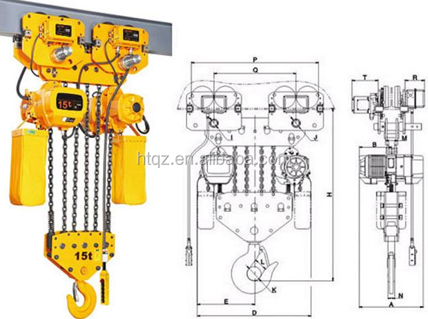 Mini Electric Hoist Crane, 1 Ton Lifting Motor Hoist