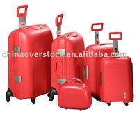 "Overstock/Stocklot/Stock 5 pcs luggage sets+20""/24""/28""/32""+PP+Best price/High quality"