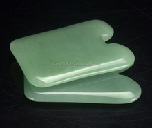 Chinese supplier massage therapy apparatues square-shaped jade gua sha stone