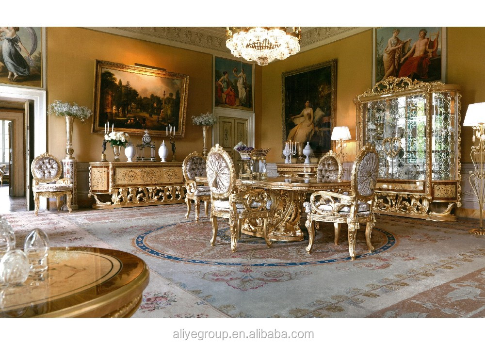 Gdm 014 royal wedding dining table sets baroque dining for Mobilya wedding