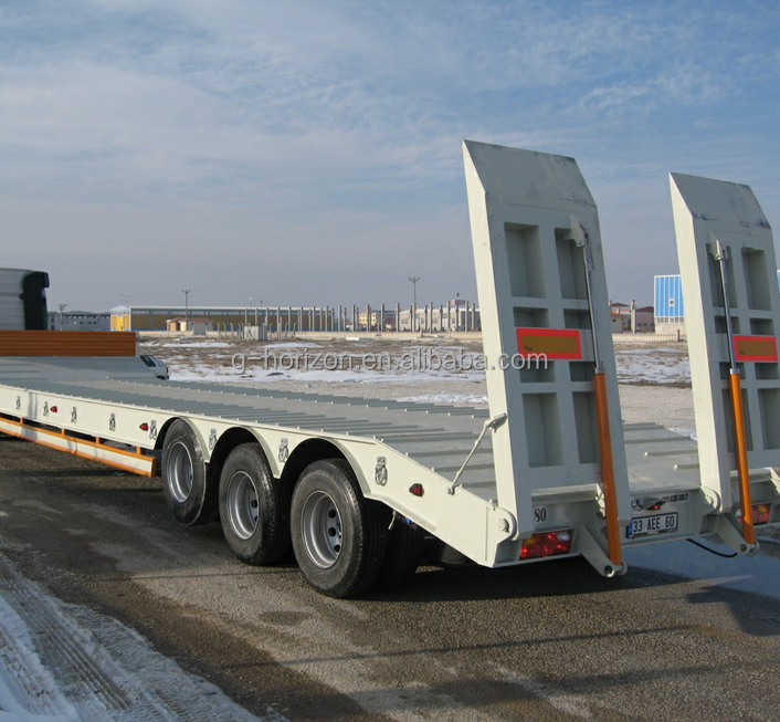 Utility trailers company, 3 axles low bed semi trailer for sale
