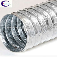 drying applications 16 inch aluminium foil flexible duct hose