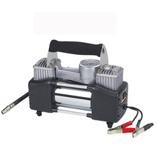 Heavy duty 2 cylinder metal air compressor 12v dc