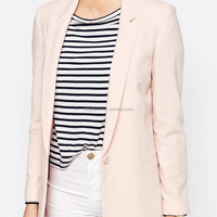 Office Casual Suit Blush Lapel One