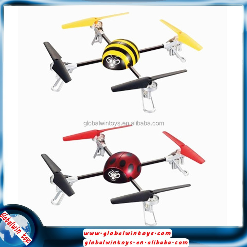 2.4g 3d stunt flip large rc flying insect toy quadcopter drone yellow/red for gift gw-t998