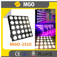 dj lighting dmx control 25x10w rgb 3 in 1 high power 5x5 led matrix