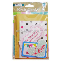 Happy life greeting kraft card making kit