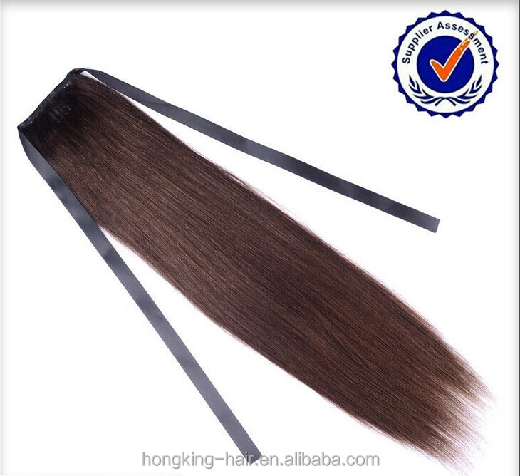 100% Virgin Remy Hair Indian Remy human Hair Ponytail 100 Human Hair