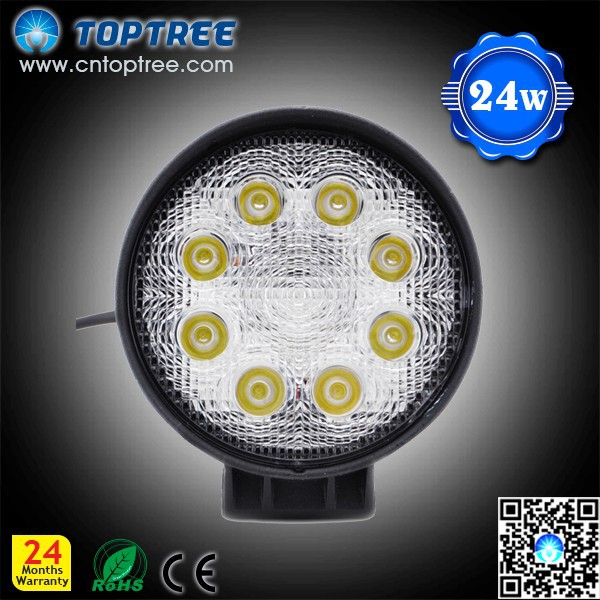 autopart 27w led work light round shape spot flood beam fog lamp
