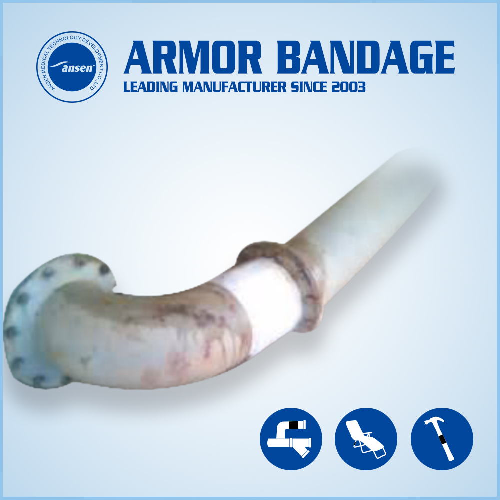 Save Cost Industrial Resin Armor Wrap Bandage Underwater Pipe Repair Tape