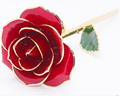 China wholesale real rose dipped in 24k gold perfect gift for important festival