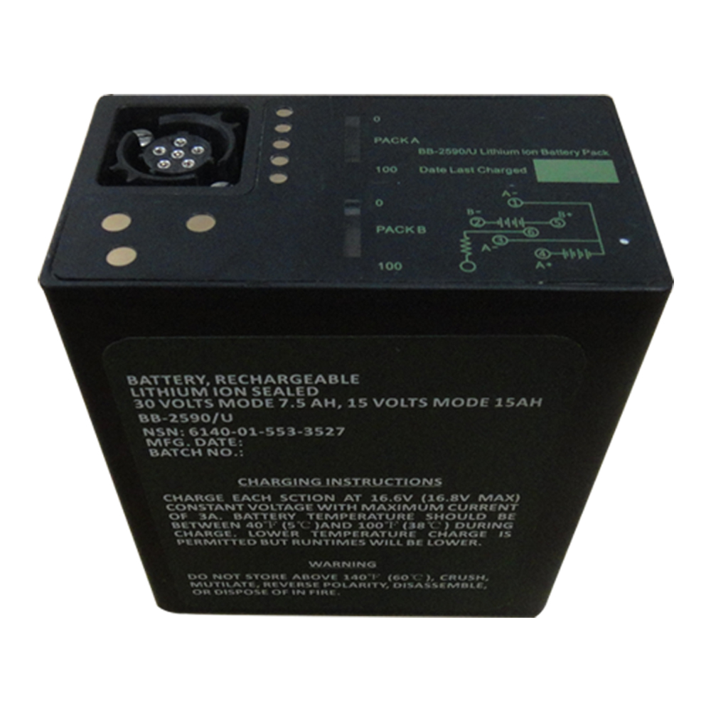 Military Battery BB-2590/U 30V 7.5Ah or 14.4V 15Ah 18650 Rechargeable Li-ion Battery pack