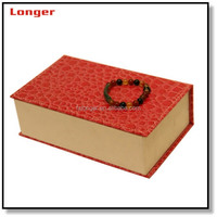 Wholesale mother of pearl inlaid imitation leather jewelry box