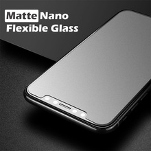 BESTSUIT 9H matte coat cell phone screen protector, for iphone x flexible nano tempered glass