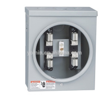 100A Single Phase Ringless Stainless Steel Square Electric Meter Socket/Meter Base