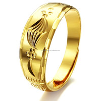 hot products for 2015 jewelry gold wholesale simple 18k gold ring new designs gold finger ring for men/women/girls KJ001