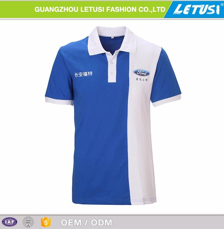 High quality polo t-shirt motorcycle / car plant facotry uniform polo tee shirt