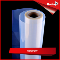 Waterproof semi-transparent inkjet film roll for silk screen printing