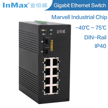 10 port optical fiber networking managed switch vlan for video transmission