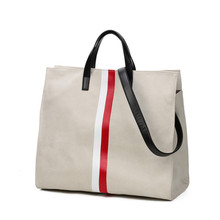 new arrival modern <strong>fashion</strong> plus large canvas customize women bag handbag