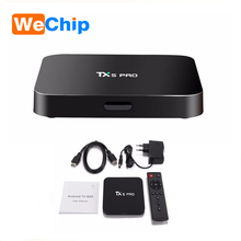 wholesale TX5 PRO android 6.0 Amlogic S905X 2G 16G tv box xbmc full hd 1080p satellite receiver software upgrade