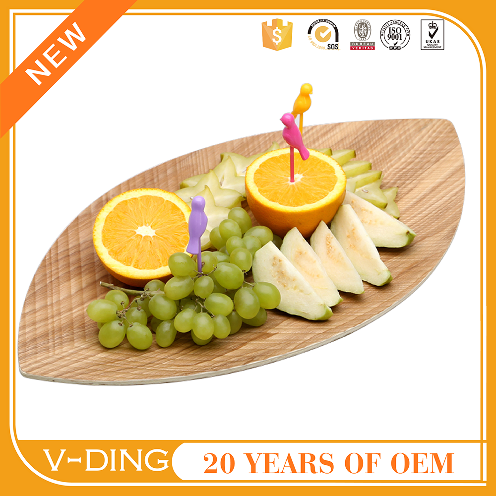 vding new products wooden leaf shape modern dinner plate bead storage trays and dessert