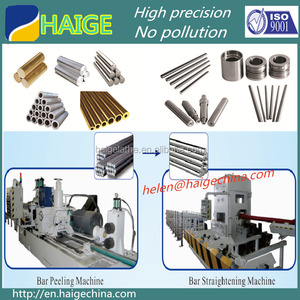 stainless steel used thread rolling machine round bar peeling machine
