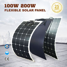 High efficiency sunpower cell semi flexible solar panel 100w with lowest price