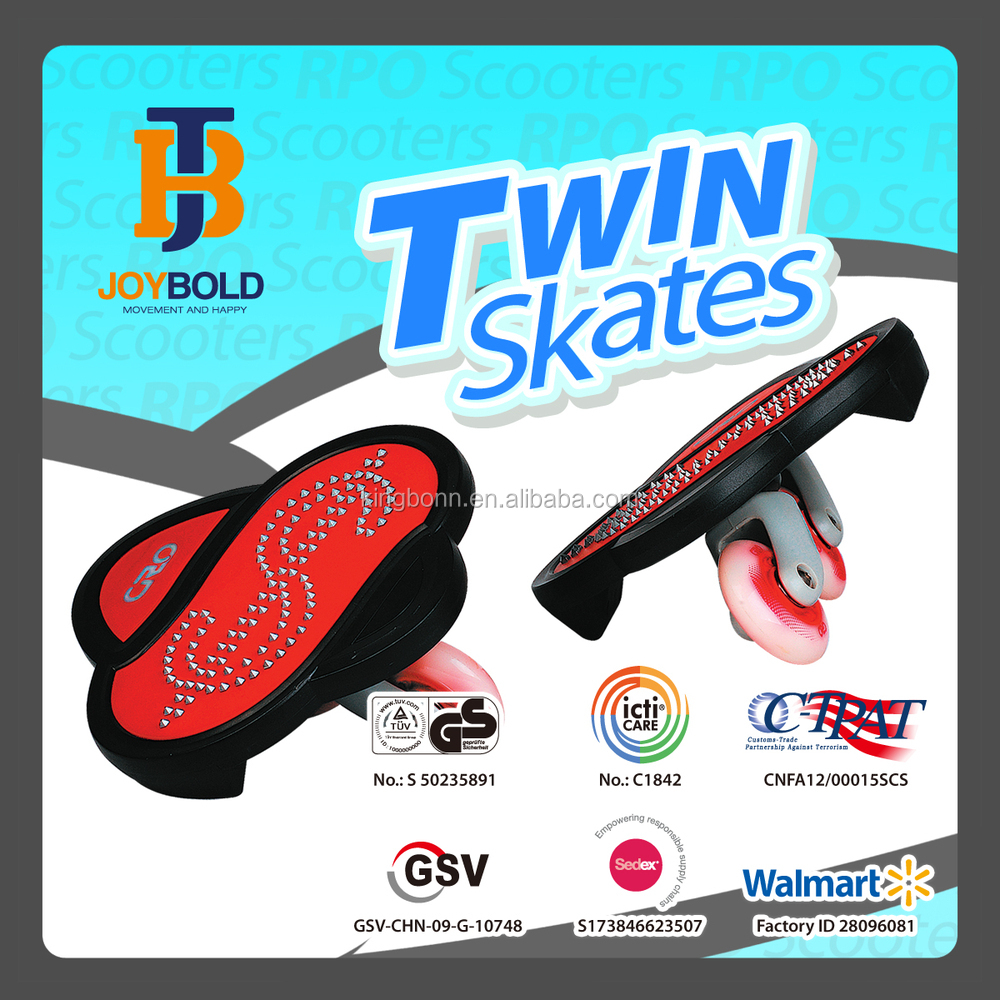 Hot Sale Running Wave Skatebaord, Twin Skateboard with 360 freestyle Alu Caster