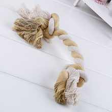 Fine Pet Products High Quality Pet toys for Dogs Pet Toy String Indoor Cotton Double Chew Rope Toy