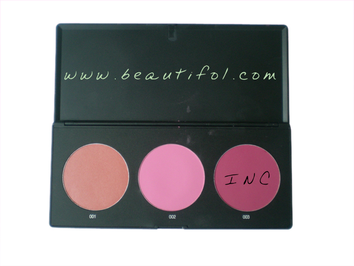 Lovely and factory price! 3 color natural blush pallet, wholesale, long lasting soft, waterproof feature, cosmetics and make up