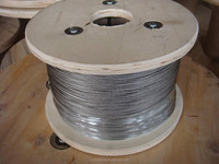 galvanized steel wire rope 8*7+1*19 used in power window regulator for cars 9.8mm