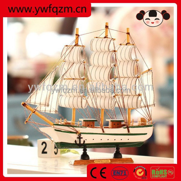 Best sell professional mini wooden boat handicraft