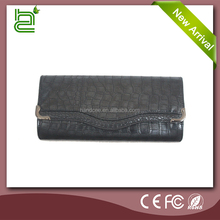 Extraordinary design hot popular elegance lady black leather purses and wallets