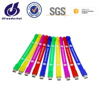 Wholesale Customized Logo Silicone Wrist Band Bracelet USB 2.0 Flash Drive Pen Drive Memory Stick Thumb Drive 1GB