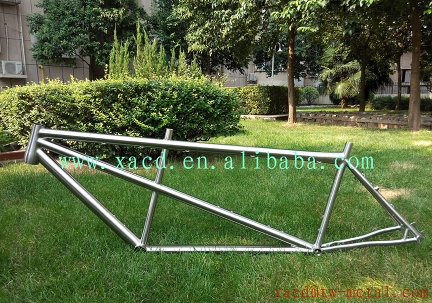 Custom super light titanium tandem mtb bike frame with disk brake and V-brake mtb tandem bike