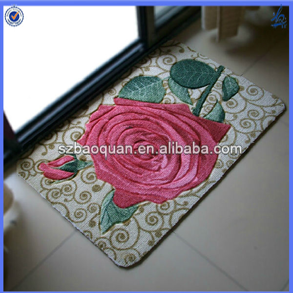 rubber waterproof backed kitchen floor mats/front door mats