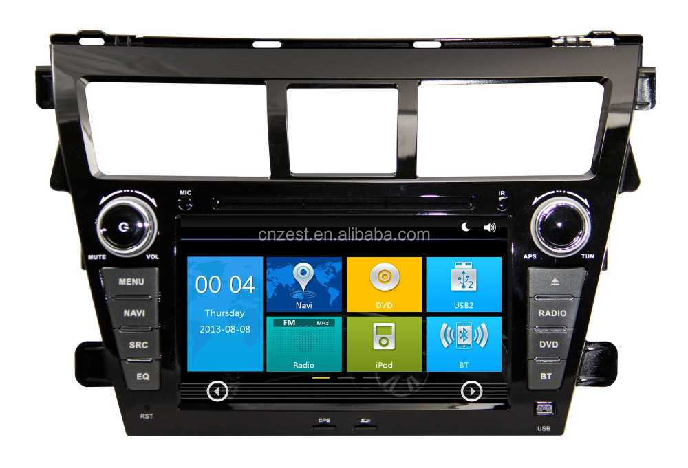 For Toyota vios digital media player, Radio, Audio, Bluetooth, RDS, 3G,wifi,V-10disc 2010 2011 2012 car stereo