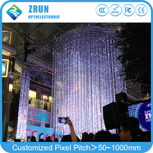 New style P100 3d visual video effect outdoor flexible led screen for shoping mall