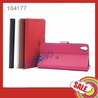 new design flip pu leather case for htc 826