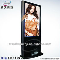 Windows capacitive Touch Screen Advertising video Player with LED back light