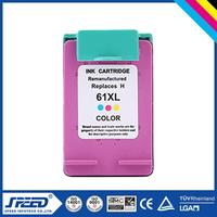 Chip Reset printers compatible ink cartridge for hp 61 with German Ink