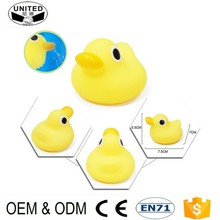 2017 wholesale Children Bath Toys Cute custom Rubber Squeaky Duck