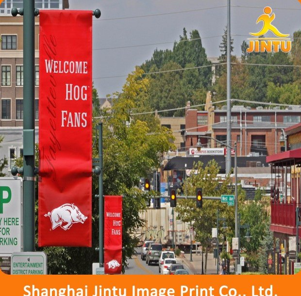 outdoor/indoor double sizes flex banner advertising fabric silk banner printing