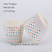 Heat Resistance Temperature Muffin Cake Cups Paper Baking Cups