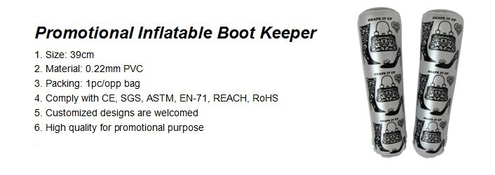 Promotional Inflatable Boot Keeper