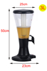 High Quality Juice Dispenser Machine , 3 Litres Plastic Beer Tower with LED