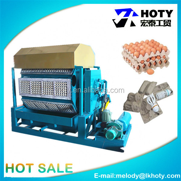 High quality rotary egg tray waste paper recycling pulp/plate forming high speed egg tray machine