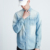 new design stylish cotton blue ripped denim shirt distress denim shirt