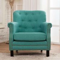 Turquoise color new classic furniture sofa
